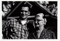 Dad and his mom Mabel Brandt 1955