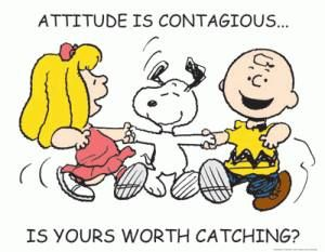 attitude is contagious_snoopy charlie brown