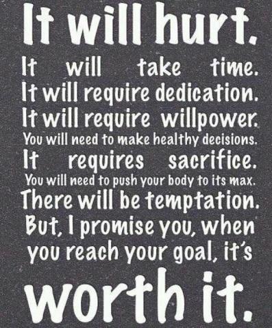 It may hurt but worth it