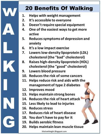 20 benefits of walking