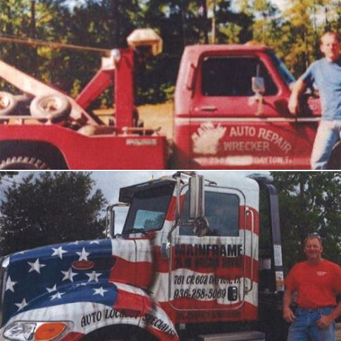 John and his two wrecker trucks